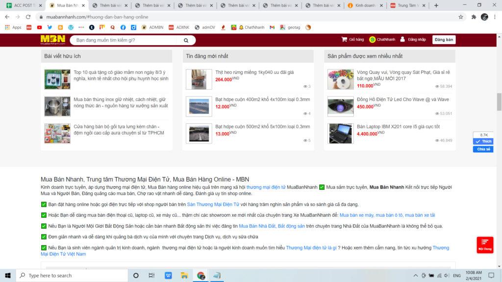 CallNhanh bán hàng online tăng doanh thu cùng thương mại điện tử MuaBanNhanh