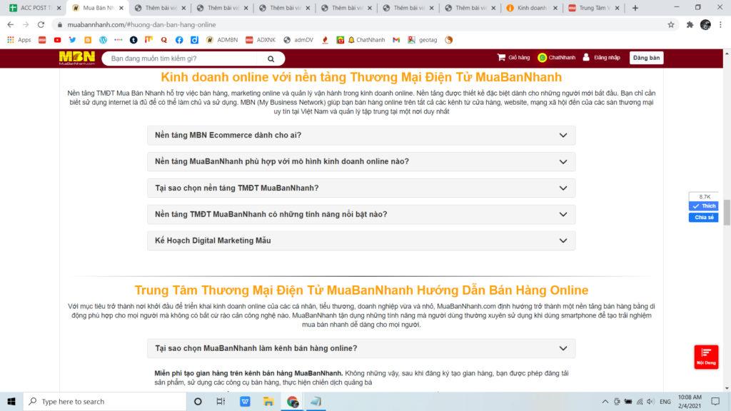 Bán hàng trên kênh thương mại điện tử MuaBanNhanh có ngay khách hàng tiềm năng