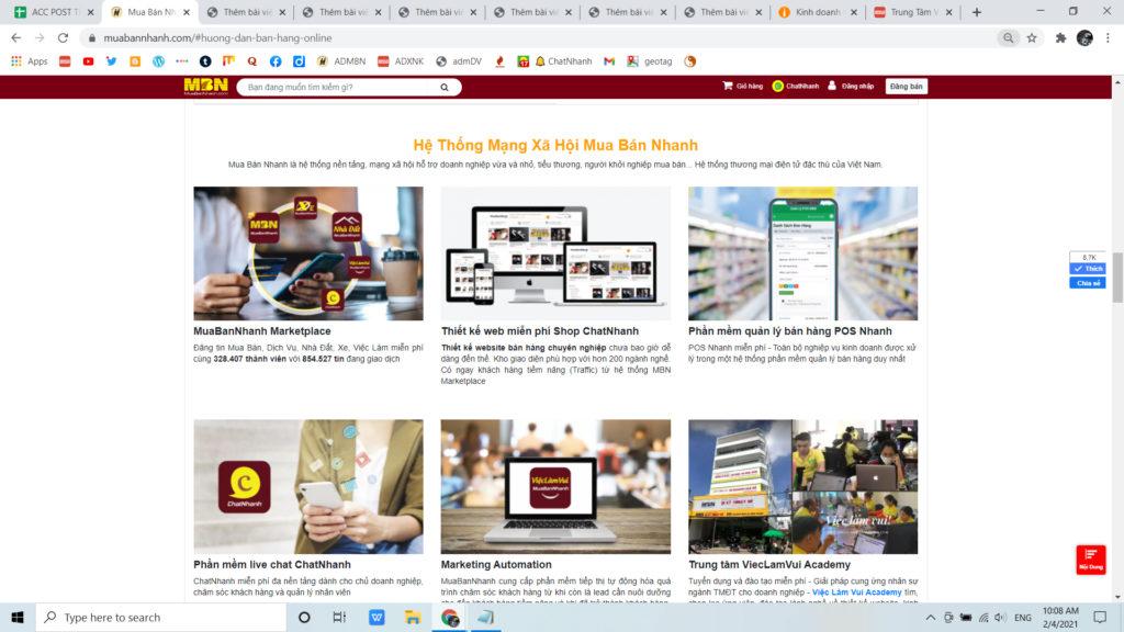 Shop ChatNhanh kinh doanh online dễ dàng với thương mại điện tử MuaBanNhanh
